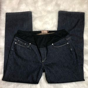 Paige Melrose Dark Wash Maternity Jeans